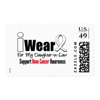 Bone Cancer I Wear White Ribbon Daughter-in-Law Postage Stamps
