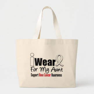Bone Cancer I Wear White Ribbon For My Aunt Bags