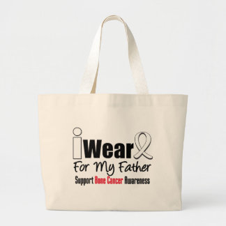 Bone Cancer I Wear White Ribbon For My Father Tote Bag