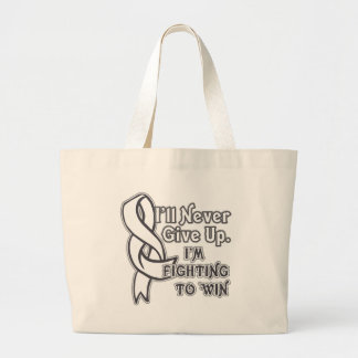Bone Cancer I'll Never Give Up Large Tote Bag