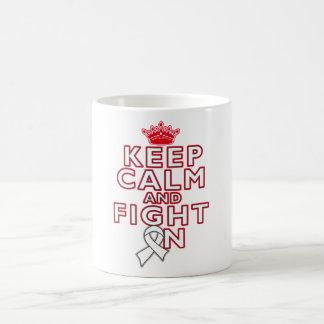 Bone Cancer Keep Calm Fight On Classic White Coffee Mug