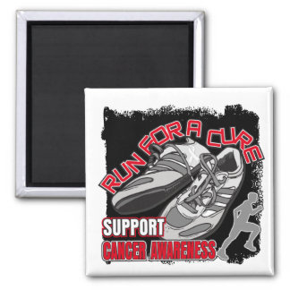 Bone Cancer - Men Run For A Cure 2 Inch Square Magnet