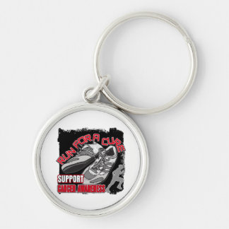 Bone Cancer - Men Run For A Cure Silver-Colored Round Keychain