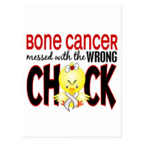 Bone Cancer Messed With The Wrong Chick Postcard