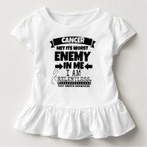 Bone Cancer Met Its Worst Enemy in Me Toddler T-shirt