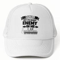 Bone Cancer Met Its Worst Enemy in Me Trucker Hat