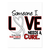 Bone Cancer NEEDS A CURE 2 Postcard