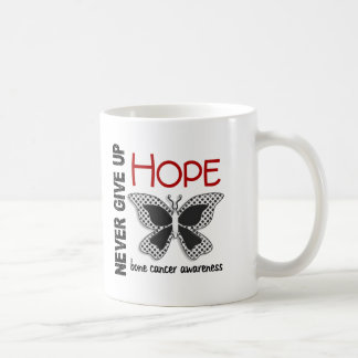 Bone Cancer Never Give Up Hope Butterfly 4.1 Classic White Coffee Mug