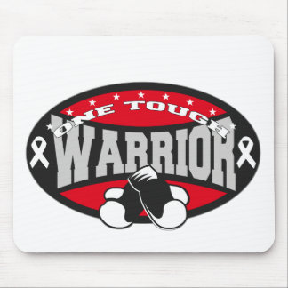 Bone Cancer One Tough Warrior Mouse Pads