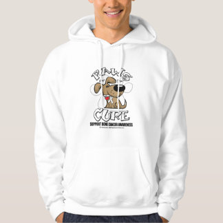 Bone Cancer Paws for the Cure Hoodie