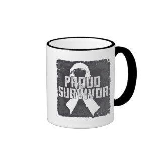 Bone Cancer Proud Survivor Ringer Coffee Mug