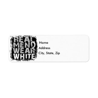 Bone Cancer Real Men Wear White Label