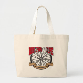 Bone Cancer Ride For Cure Tote Bags