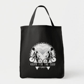 Bone Cancer Riding For The Cure Canvas Bags