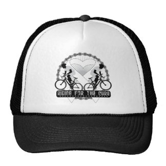 Bone Cancer Riding For The Cure Hats