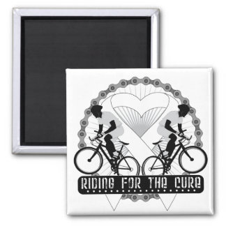 Bone Cancer Riding For The Cure Refrigerator Magnet