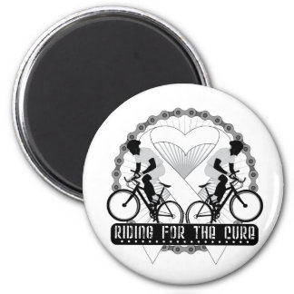 Bone Cancer Riding For The Cure Fridge Magnet