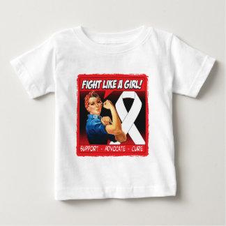 Bone Cancer Rosie Riveter - Fight Like a Girl Tee Shirt