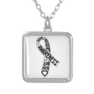 Bone Cancer Slogans Ribbon Custom Necklace