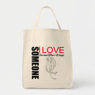 Bone Cancer Someone I Love Earned Her Wings Grocery Tote Bag