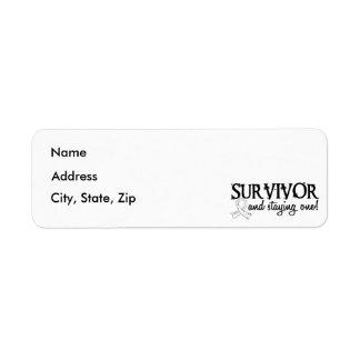 Bone Cancer Survivor 18 Return Address Label