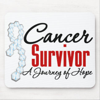 Bone Cancer Survivor Awareness Journey Ribbon Mouse Pad