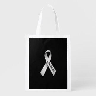 Bone Cancer Survivor Bag Grocery Bags