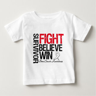 Bone Cancer Survivor Fight Believe Win Motto Infant T-shirt