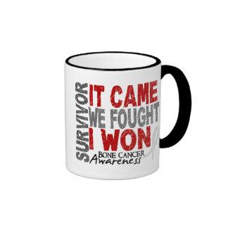 Bone Cancer Survivor It Came We Fought I Won Ringer Coffee Mug