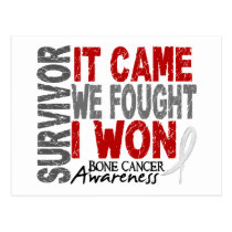 Bone Cancer Survivor It Came We Fought I Won Postcard