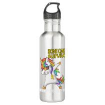BONE CANCER Survivor Stand-Fight-Win Stainless Steel Water Bottle