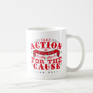 Bone Cancer Take Action Fight For The Cause Classic White Coffee Mug