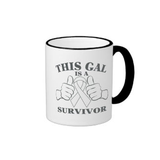 Bone Cancer This Gal is a Survivor Ringer Coffee Mug