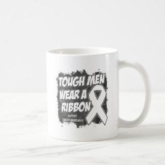 Bone Cancer Tough Men Wear A Ribbon Classic White Coffee Mug