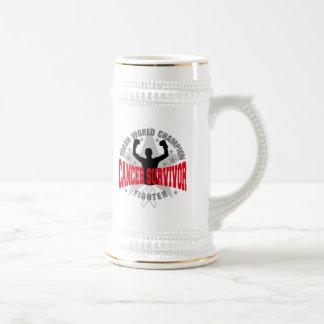 Bone Cancer Tough World Champion Survivor 18 Oz Beer Stein