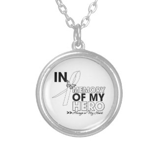 Bone Cancer Tribute In Memory of My Hero Round Pendant Necklace