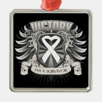 Bone Cancer Victory Ornament