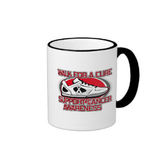 Bone Cancer Walk For A Cure Ringer Coffee Mug