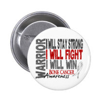 Bone Cancer Warrior Pinback Button