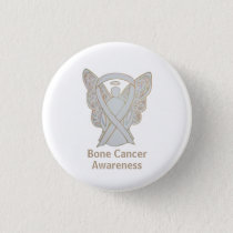 Bone Cancer White Angel Awareness Ribbon Pins