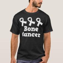 Bone Cancer White Ribbon Awareness T-Shirt