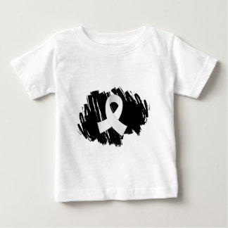 Bone Cancer White Ribbon With Scribble T Shirts