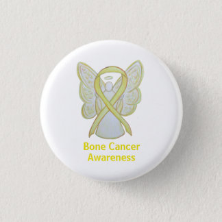 Bone Cancer Yellow Angel Awareness Ribbon Pin