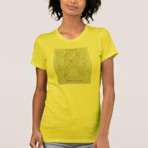 Bone Cancer Yellow Awareness Ribbon Angel Shirt