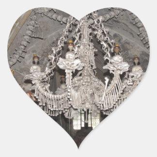 Bone Chandelier Heart Sticker