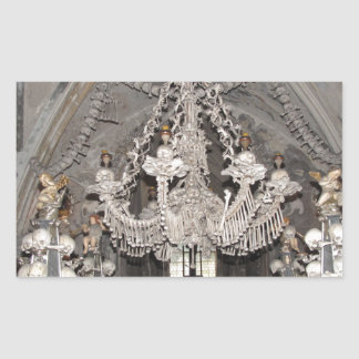 Bone Chandelier Rectangular Sticker