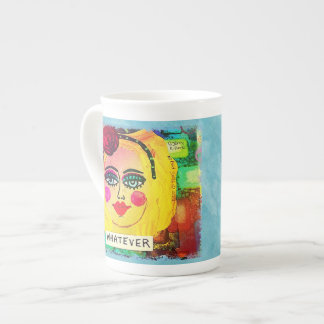 BONE CHINA 15 OZ MUG-WHATEVER TEA CUP