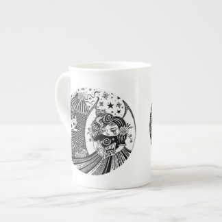Bone China Contented Creature Angel Fairy Tea Cup
