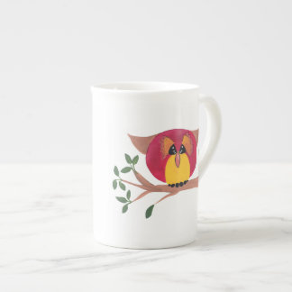 Bone China Cup Gift with Owl Art