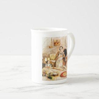 "Bone China Cup ""Grandma's Kitchen Porcelain Mug"
